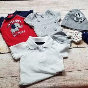 Baby boy newborn bundle lot
